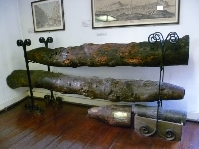 Old Town water pipes, Huntly House Museum
