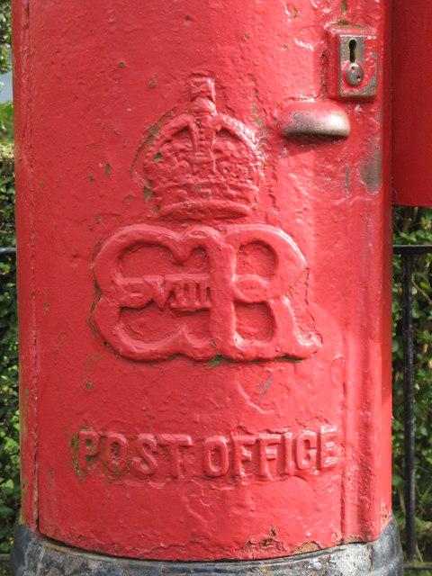 Edward VIII postbox, Katrine Avenue / Laggan Road, G64 - royal cipher by Mike Quinn
