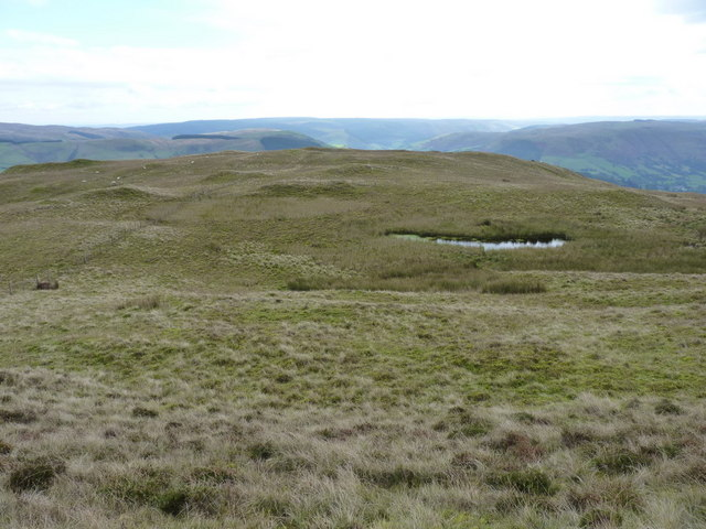 Lakes on at the summit of Foel Benddin