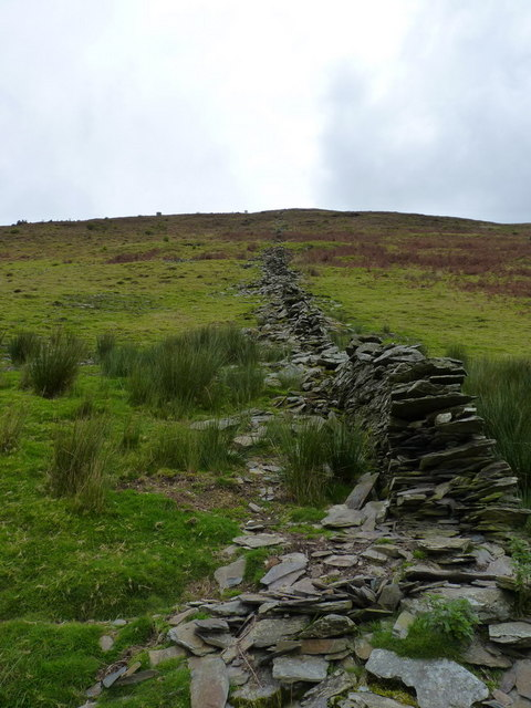 Uphill beside the dry stone wall