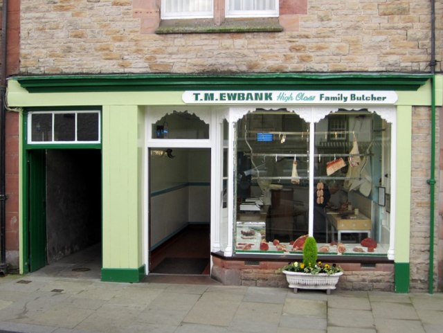 Butcher's shop, Boroughgate, Appleby in Westmorland