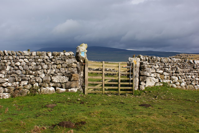 A gate with sheepfold beyond...