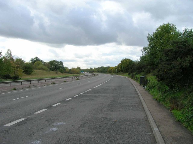 A46 from lay-by near to Willenhall Wood