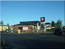 SO4382 : Texaco filling station at Craven Arms by David Smith