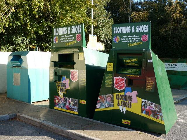 Salvation Army Clothing Banks, near Paignton Zoo