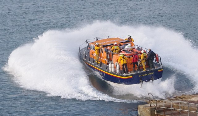 St Davids lifeboat launch