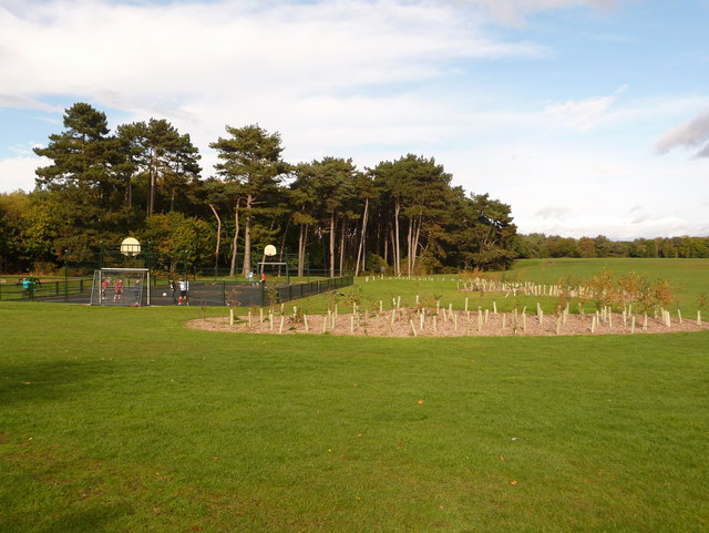 Redhill: new hard football pitch and landscaping