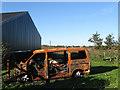 SU9804 : Burnt Out Car, Long Barn by Simon Carey