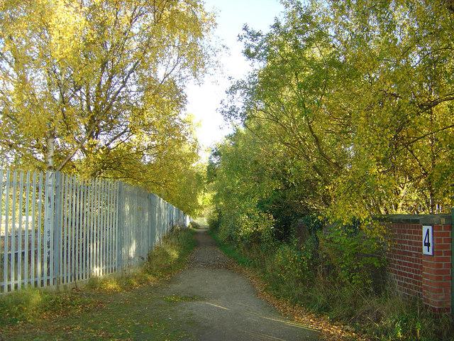 Footpath near Water Treatment plant, Darlington