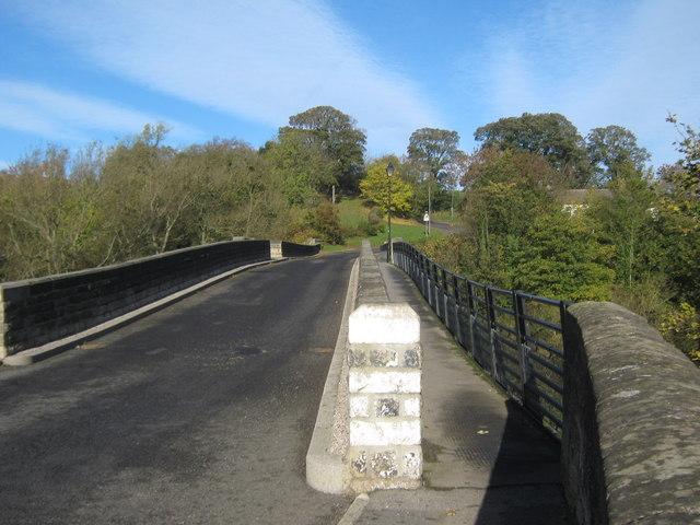 Footbridge attached to Newton Cap Bridge crossing the River Wear