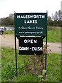 TM3878 : Halesworth Lakes sign by Adrian Cable