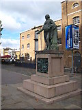 TQ3780 : Statue of Robert Milligan on West India Dock North Quay by Rod Allday