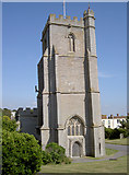 ST3049 : St Andrew's church tower by Neil Owen
