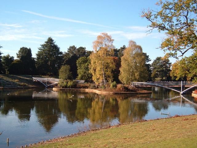 Bridges over the lake in Queen's Park