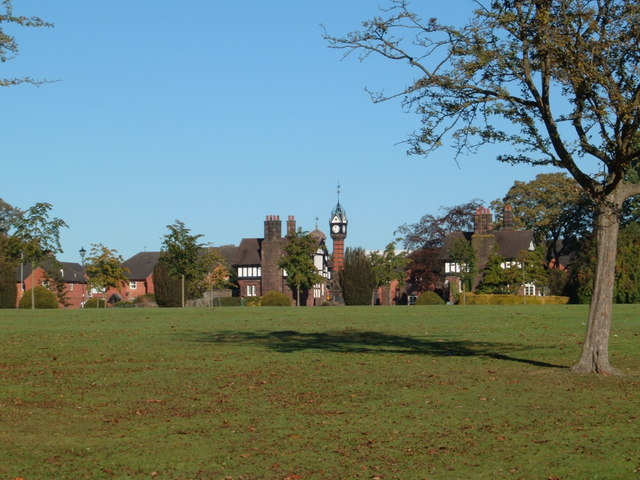 Queen's Park clocktower and gatehouses.