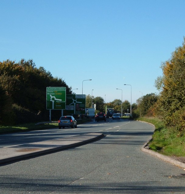 The A500, Nantwich by-pass