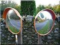 NT5677 : Rural East Lothian : Roadside Mirrors In Stereo at Markle Mains by Richard West