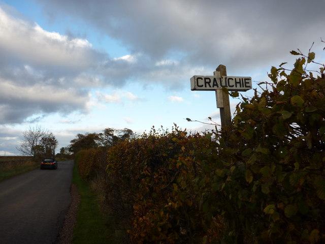 Rural East Lothian : Crauchie road-end, near East Linton