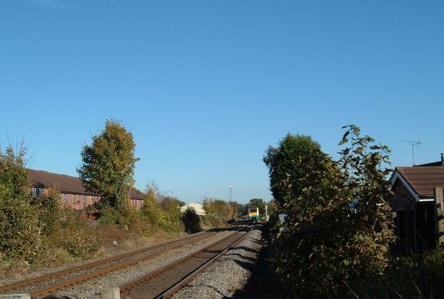 Train approaching Willaston level crossing