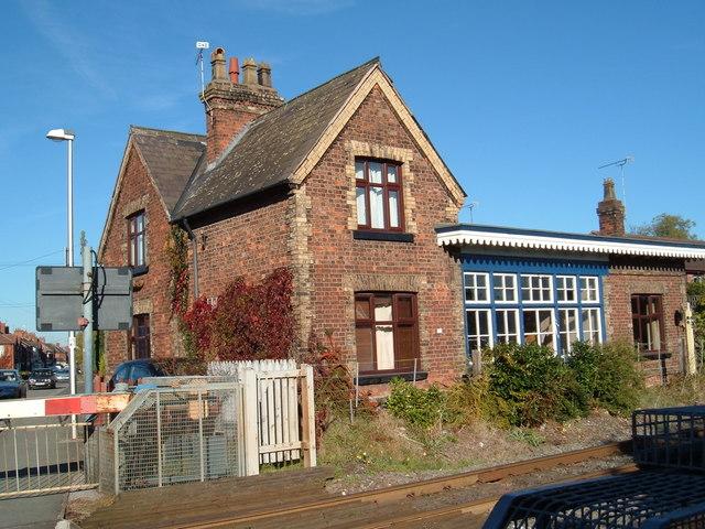 Disused railway station at Willaston near to Crewe