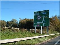 SJ6652 : On the A500 near Willaston by Margaret Sutton