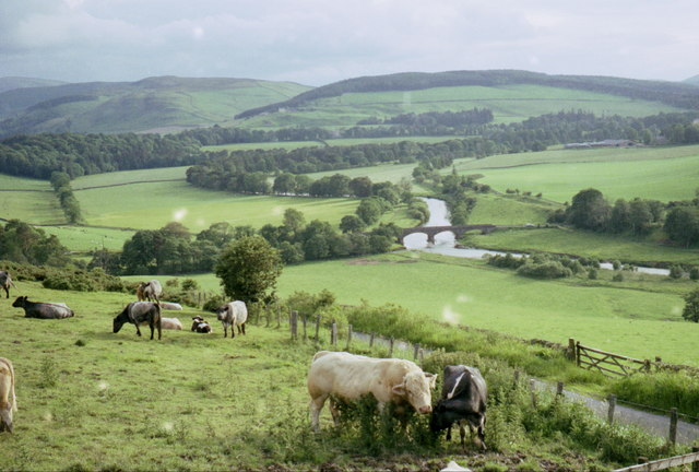 View over the Tweed Valley
