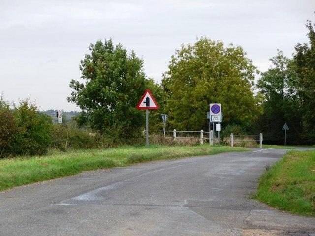 Road junction near Woolley