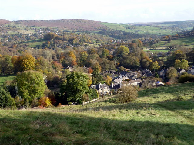 Looking over Stoney Middleton