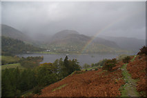 NY3916 : The higher path on the south side of Ullswater by Bill Boaden