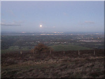 SJ1662 : Y Tŵr Jubilî 200/Jubilee Tower 200 celebration #15 - The rising moon by John S Turner