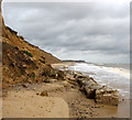 TM5178 : Sea defences below Easton Cliffs, Easton Bavents by Evelyn Simak