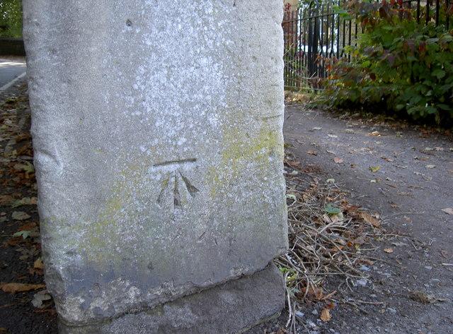 Benchmark, junction of Sydney Road and Sham Castle Lane