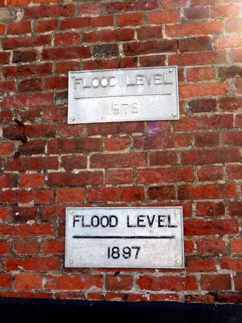 Plaques re Flood Levels, Blakeney, Norfolk