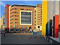 NZ2463 : Bright buildings at junction of Railway Street and Forth Banks by Andrew Curtis