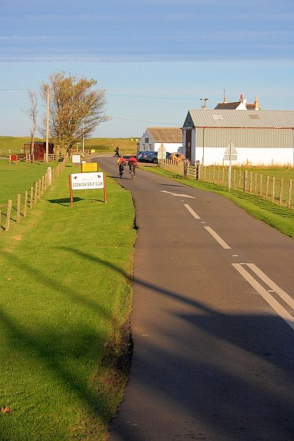 Approaching Goswick Golf Club