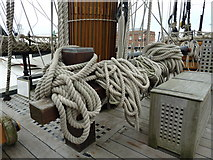 SU6200 : Coiled ropes on HMS Victory by Basher Eyre