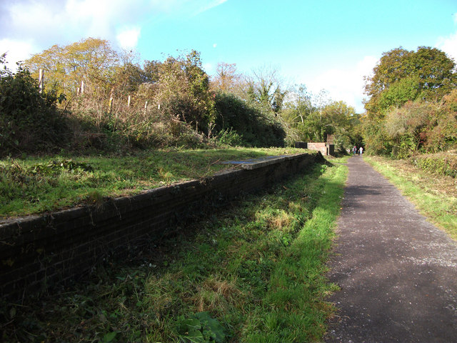 Spetisbury Halt, abandoned platform