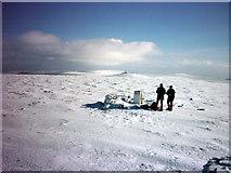 NY6834 : Cross Fell summit by Karl and Ali