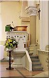 TQ3283 : St James, Prebend Street, London N1 - Pulpit by John Salmon