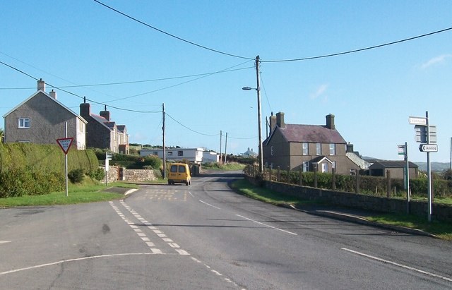 The B4413 at the junction with the Anelog and Uwchmynydd roads