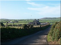 SH1727 : View West along the Anelog road from Bro Hywyn by Eric Jones