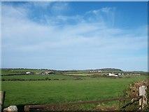 SH1728 : Dispersed settlement west of Afon Cyllyfelin by Eric Jones