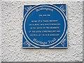 NZ2581 : Town Trail Plaque (The Sun Inn) by David Clark