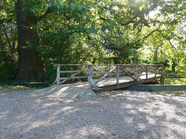 Footbridge on the Thames Path