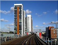 TQ3880 : Near East India Dock Station by Des Blenkinsopp