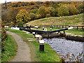SD9321 : Rochdale Canal, Nip Square Lock. by David Dixon
