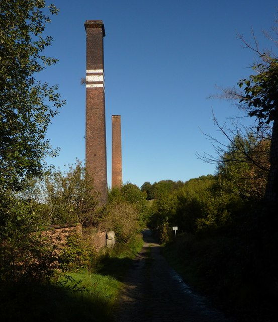 Chimneys, Cinderhill Works, Halifax