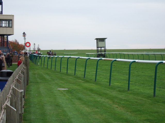 The winning post, Rowley Mile racecourse, Newmarket