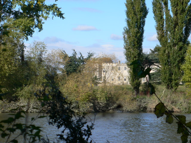 Syon House, glimpsed from the Thames Path