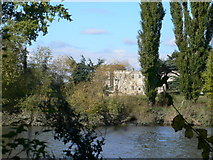 TQ1776 : Syon House, glimpsed from the Thames Path by Eirian Evans